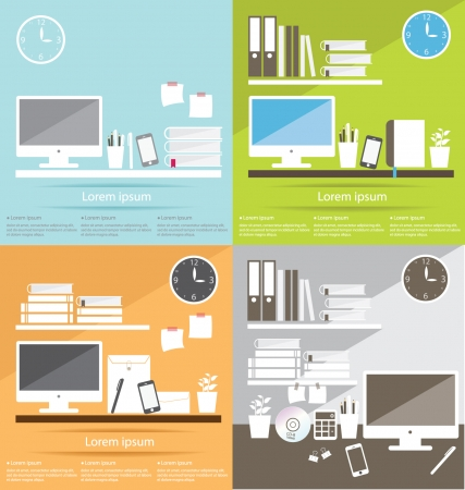 Interior office room vector illustration Vector