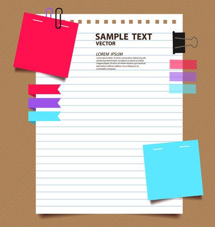 papel de notas: papel ilustraci�n vectorial Vectores