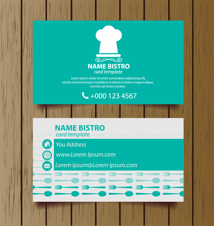 business card template for restaurant business
