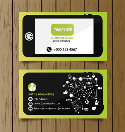 Business card template for online marketing royalty free cliparts business card template for online marketing stock vector 27785569 friedricerecipe Images