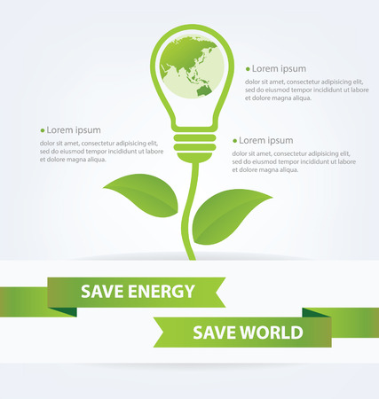Go green concept  Save world Illustration  Vector