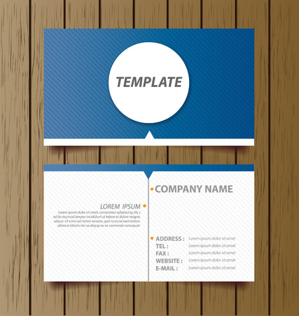 business card template: business card template vector illustration