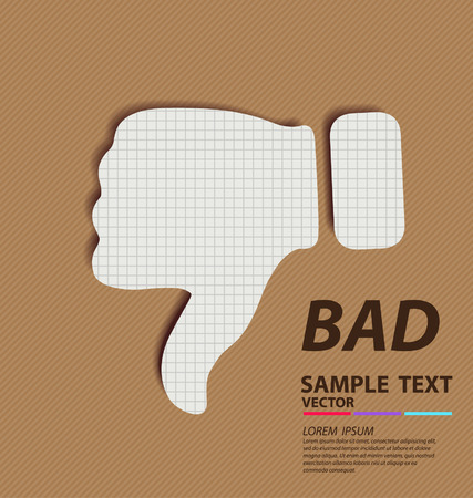 Hand signs  Bad concept  paper vector illustration  Vector