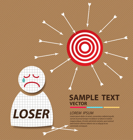 Loser, Business concept vector illustration  Vector