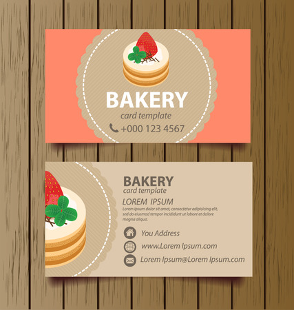 business card template for bakery business vector illustration