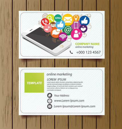 Business Card Template For Online Marketing Royalty Free Cliparts - Online business card templates