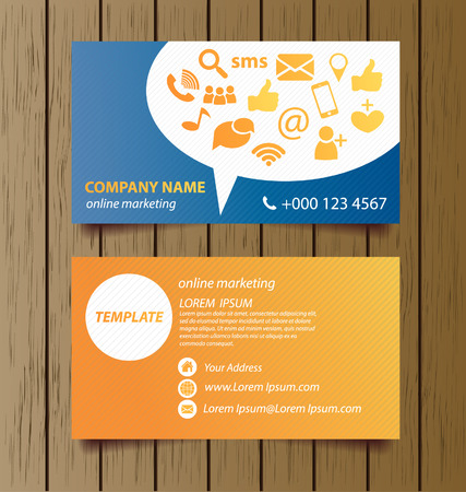 Business card template for online marketing vector royalty free business card template for online marketing vector vector cheaphphosting Image collections