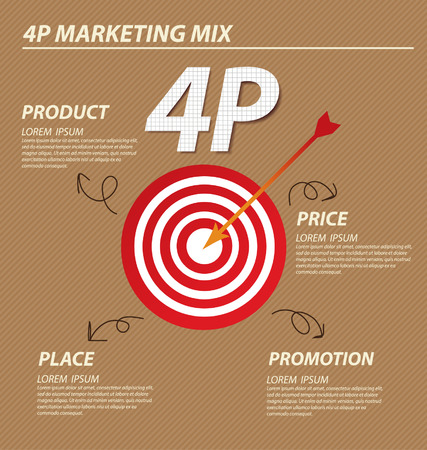 4P marketing mix  Business concept vector illustration  Vector