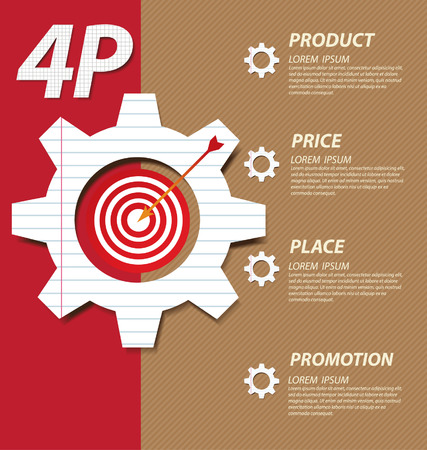 marketing mix: 4P marketing mix  Business concept vector illustration