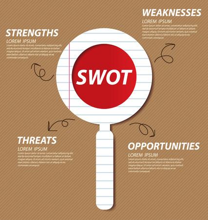 swot: Swot analysis  Business concept vector  Illustration