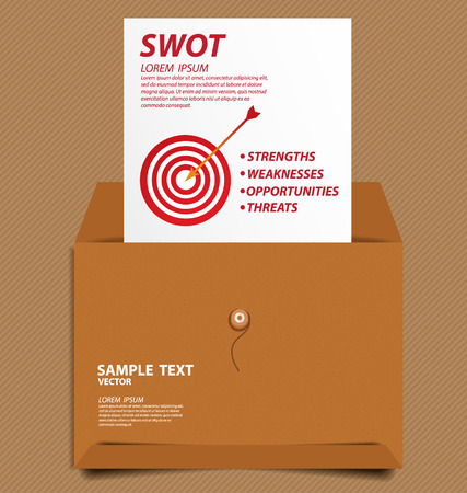 Swot analysis  Business concept vector  Vector