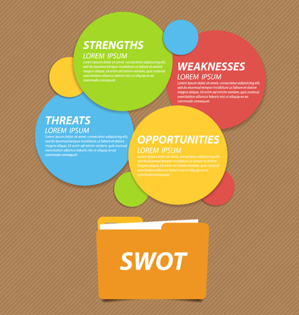 swot analysis: Swot analysis  Business concept vector  Illustration