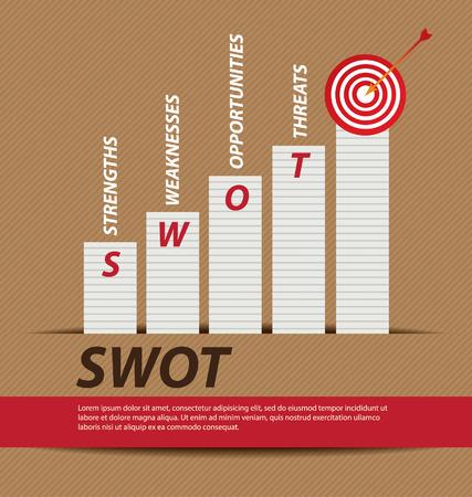 swot analysis: Concepto de an�lisis DAFO de negocios vector