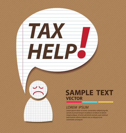 Tax help  tax or taxes concept vector illustration Vector