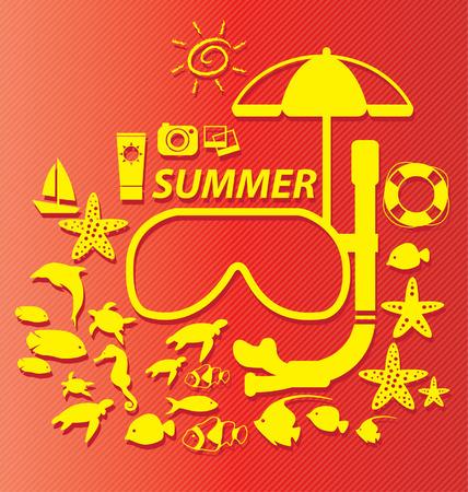 Summer vector illustration Vector