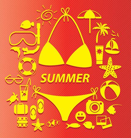 Summer vector illustration Vektorové ilustrace