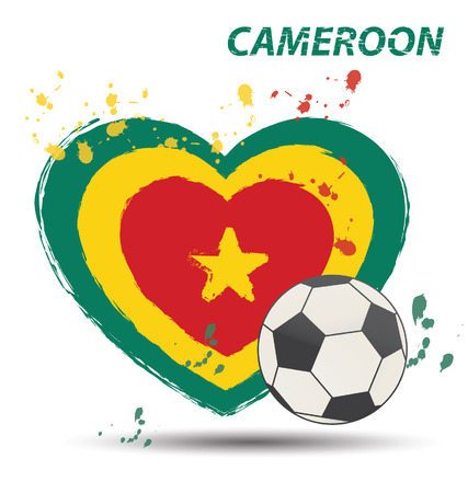 Watercolor in Cameroon flag concept Vector