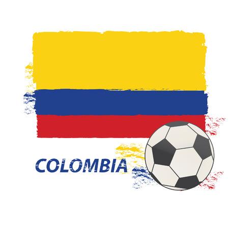 Watercolor in Colombia flag concept Vector