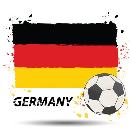 bandera alemania: Acuarela en Alemania el concepto de la bandera