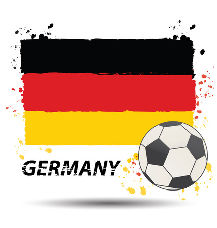 federal republic of germany: Watercolor in Germany flag concept Illustration