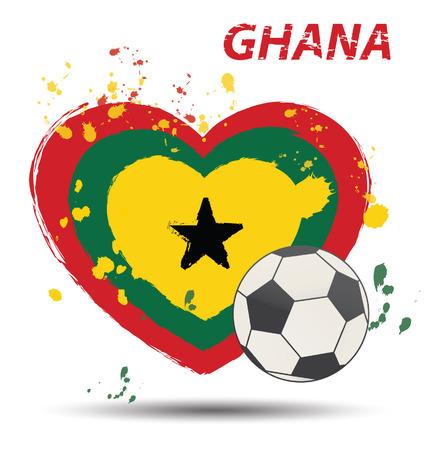 ghana: Aquarelle au Ghana concept de drapeau Illustration