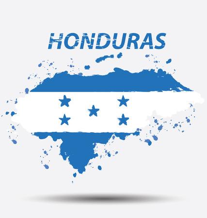 Watercolor in Honduras flag concept