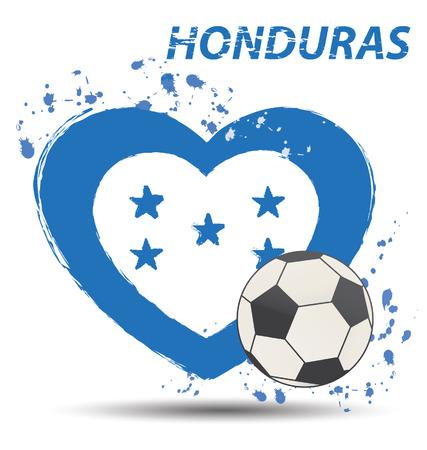 Watercolor in Honduras flag concept Vector