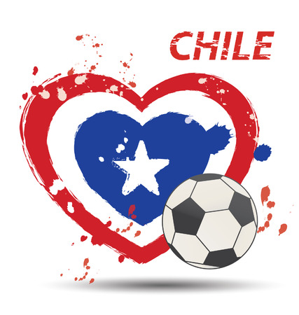 bandera chile: Acuarela en concepto de bandera de Chile Vectores