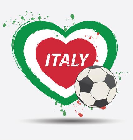 Watercolor in Italy flag concept Vector