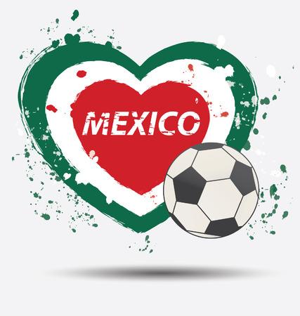 Watercolor in Mexico flag concept Vector