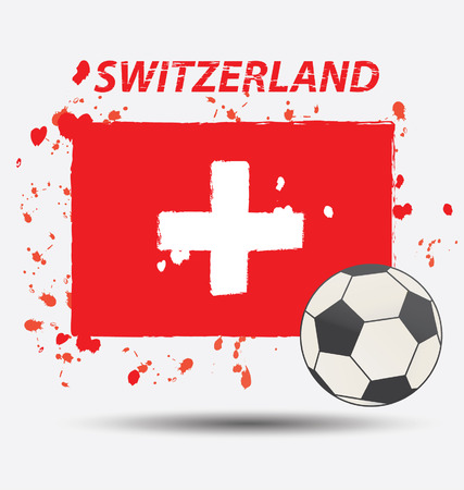 Watercolor in Switzerland flag concept Vector