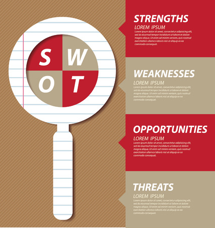 swot: Swot analysis  Business concept vector  Illustration