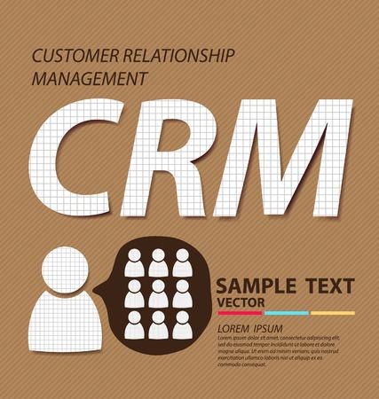 relationship management: Customer relationship management  Business concept vector illustration