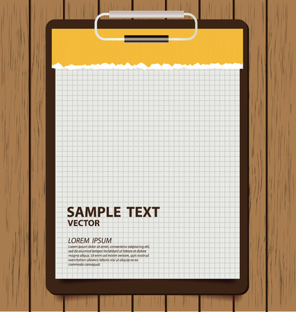 Clipboard with white paper Vector