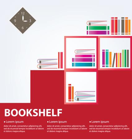 bibliography: books placed on a bookshelf