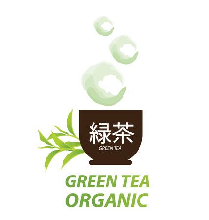 chlorophyll: green tea Illustration