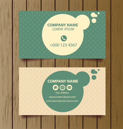 business card template vector illustration Vector