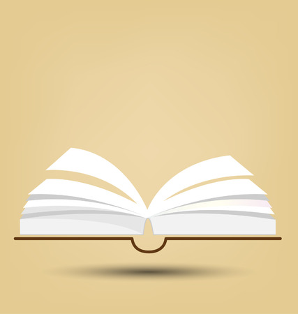 Open book vector illustration Vector
