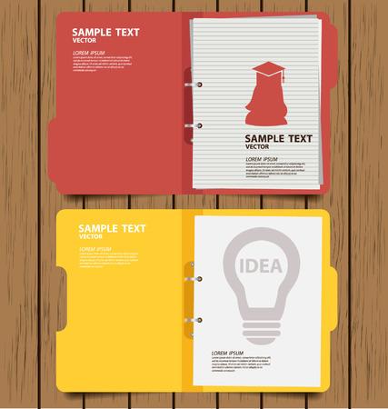 folder: carpeta con documentos ilustración vectorial