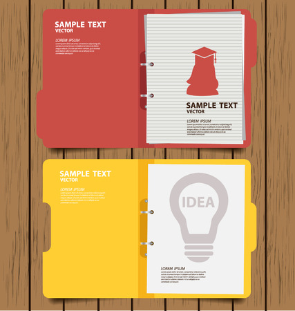 filing documents: folder with documents vector illustration