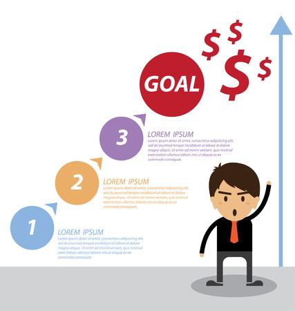 increasing: Business concept vector illustration Illustration