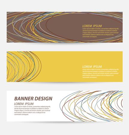 Ontwerp sjabloon banners set