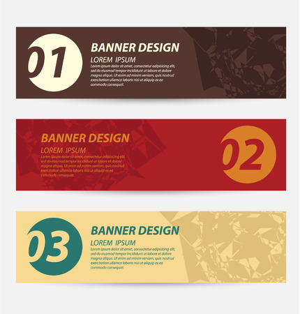 Design template banners set Vector