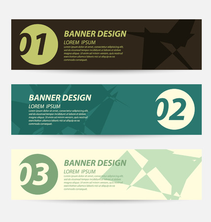 Design template banners set Vector