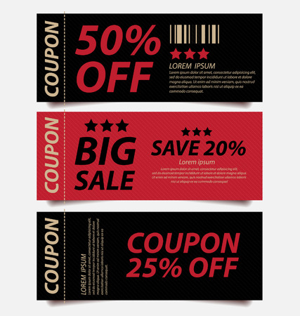 COUPON TEMPLATE: offers and promotions banners vector