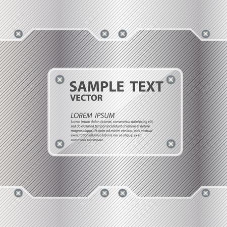 metal background with glass framework vector illustration