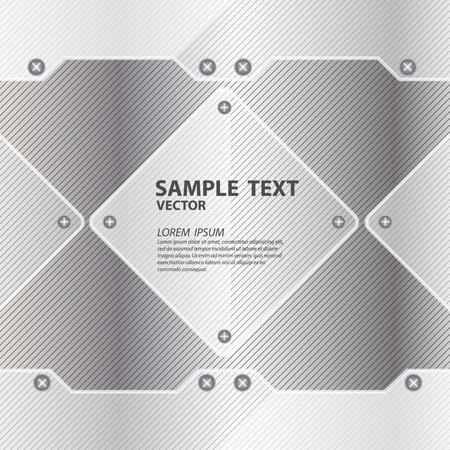 metal background with glass framework vector illustration Vector