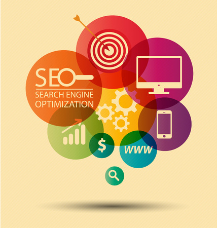 search results: search engine optimization Illustration  Illustration