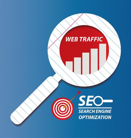 optimisation: search engine optimization Illustration  Illustration