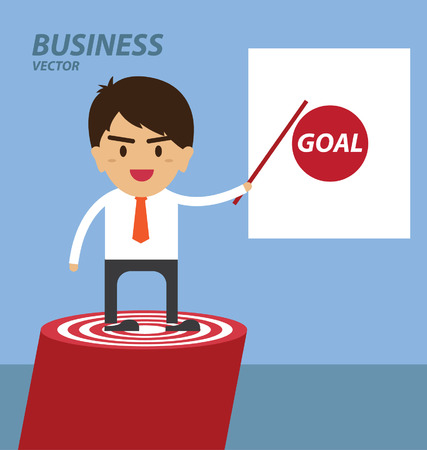 businessman points to success business Vector